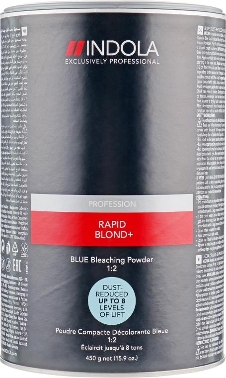 Беспылевой осветляющий порошок голубой - Indola Profession Rapid Blond+ Blue Dust-Free Powder