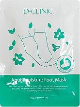 Духи, Парфюмерия, косметика Увлажняющая маска для ног - D+Clinic Aqua Moisture Foot Mask