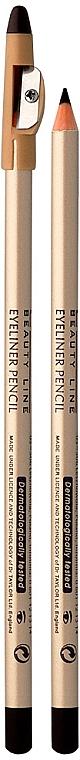 Контурный карандаш для глаз с точилкой - Eveline Cosmetics Eyeliner Pencil