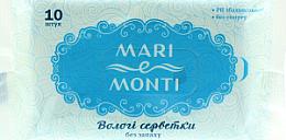 Духи, Парфюмерия, косметика Влажные салфетки, без запаха - Mari E Monti