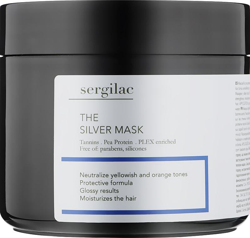 Маска для нейтрализации желтого пигмента - Sergilac The Silver Mask