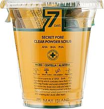 Духи, Парфюмерия, косметика Набор скрабов для глубокого очищения пор - May Island 7Days Secret Pore Clear Powder Scrub