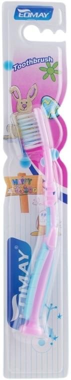 Детская зубная щетка, мягкая, 6601 фиолетово-голубая - Eomay