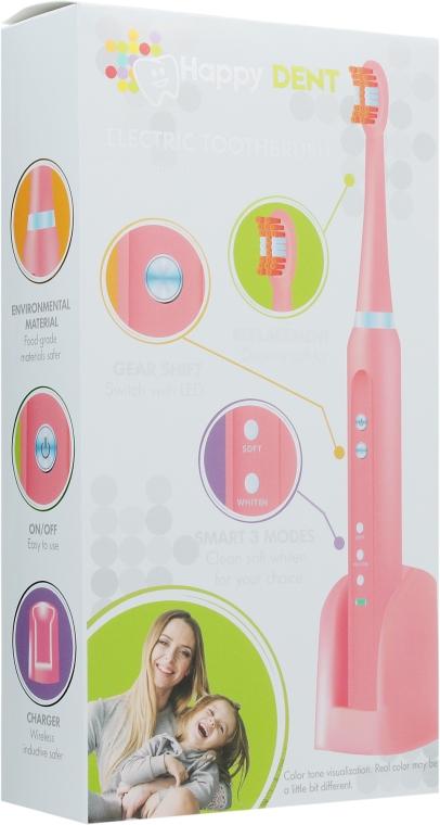 Электрическая зубная щетка, розовая - Happy Dent MH1