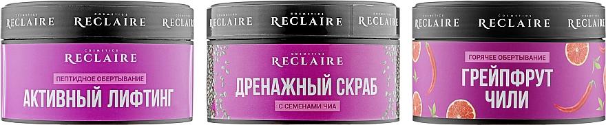 """Набор """"Тройной комбинированный комплекс"""" - Reclaire Hot (cr/200ml + cr/200ml + scrub/250ml)"""