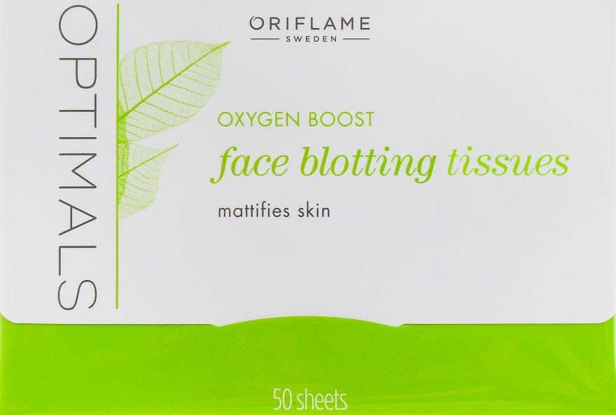 "Матирующие салфетки для лица ""Активное отбеливание"" - Oriflame Optimals Oxygen Boost Face Blotting Tissues"