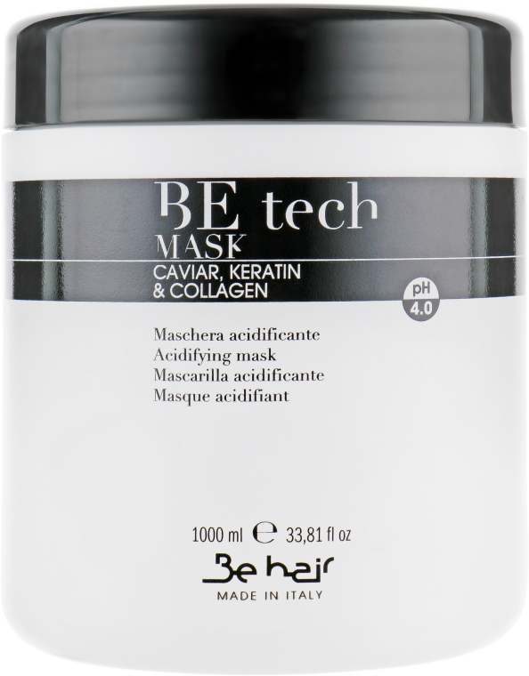 Кислая рН-маска с кератином и коллагеном - Be Hair Be Tech Acidifying Mask