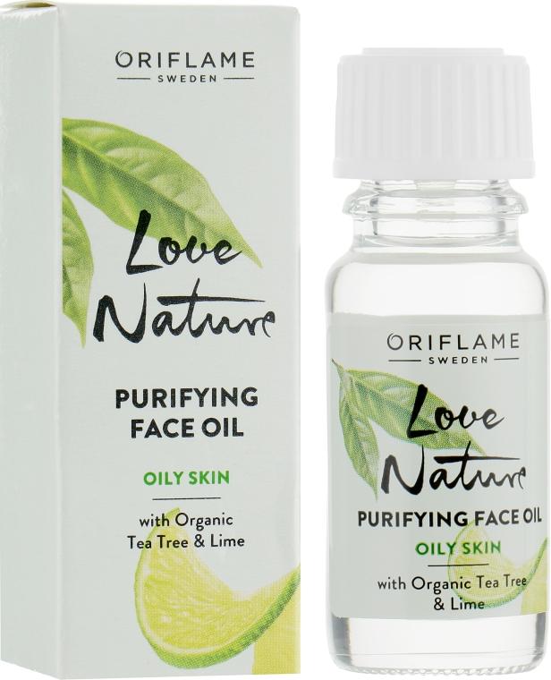 Очищающее масло с органическим чайным деревом и лаймом - Oriflame Love Nature Purifyng Face Oil