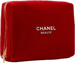 Духи, Парфюмерия, косметика Косметичка на молнии, бордовая - Chanel Beaute