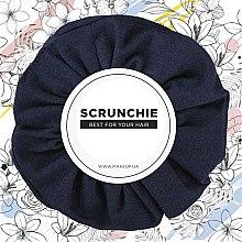 "Духи, Парфюмерия, косметика Резинка для волос трикотаж, темно-синяя ""Knit Classic"" - MakeUp Hair Accessories"
