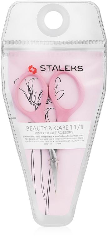 Ножницы для кутикулы розовые, SBC-11/1 - Staleks Beauty & Care 11 Type 1 — фото N2