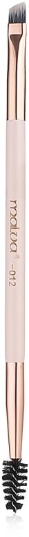 Кисть для бровей двусторонняя №12, М310 - Malva Cosmetics