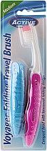 Духи, Парфюмерия, косметика Зубная щетка для путешествия, розовая - Beauty Formulas Voyager Active Folding Dustproof Travel Toothbrush Medium