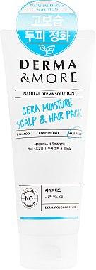Увлажняющая маска для волос - KeraSys Derma & More Cera Moisture Scalp & Hair Pack