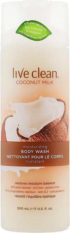 "Гель для душа ""Увлажняющий"" - Live Clean Coconut Milk Moisturizing Body Wash"