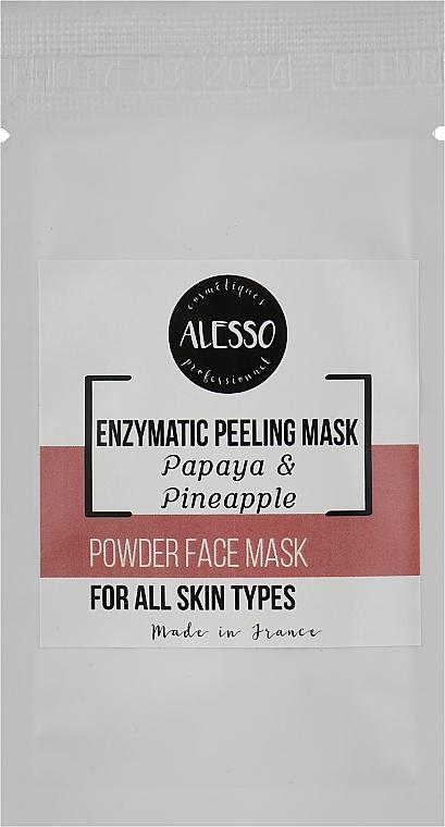 Порошкообразная энзимная маска-пилинг - Alesso Professionnel Powder Face Mask