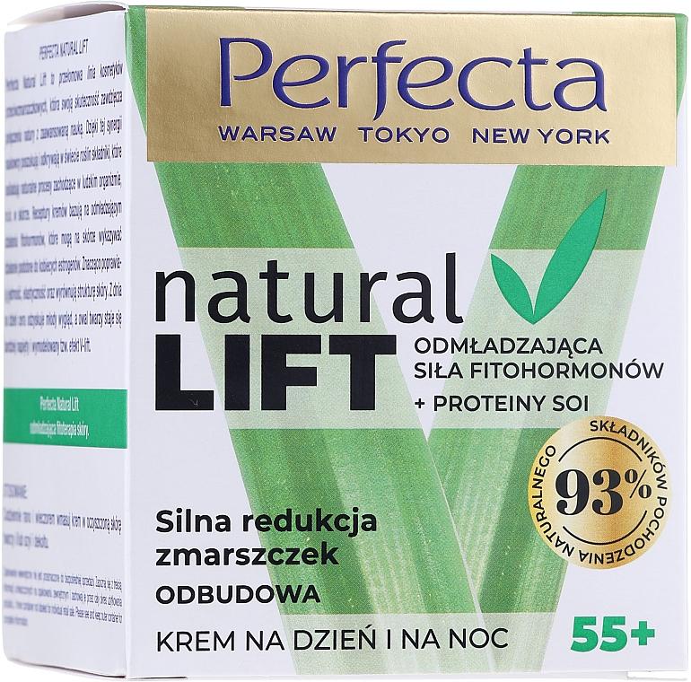 Восстанавливающий крем для лица против морщин 55+ - Perfecta Natural Lift Anti-wrinkle Revitalizing Cream