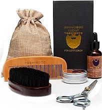 Духи, Парфюмерия, косметика Набор - Yoshimoto Gentleman's Code ST058 (comb + scissors + wax/30g + oil/30ml + comb + bag)