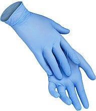 Духи, Парфюмерия, косметика Одноразовые перчатки нитриловые без пудры, размер L, голубые - XoKo