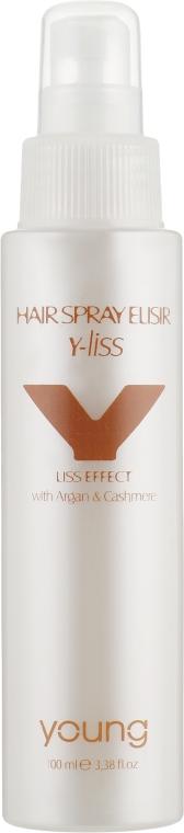 Спрей для гладкости и блеска волос - Young Y-Liss Argan & Cashmere Hair Spray Elisir