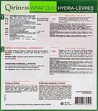 "Набір для губ ""Очищення та об'єм"" - Qiriness Hydrating 2-Step Lip Scrub & Patch (lip/scr/3g + lip/patch/1pc) — фото N2"