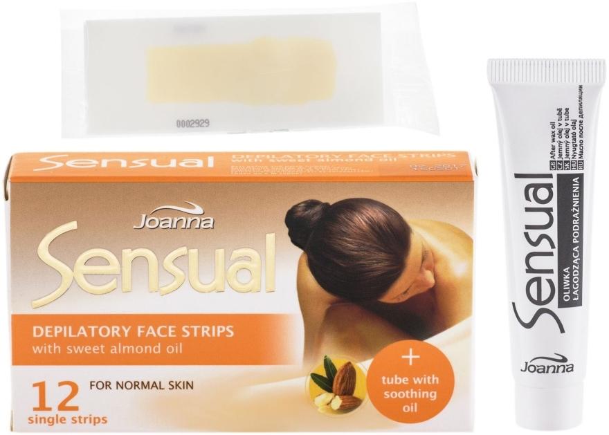 Пластырь с воском для депиляции лица c маслом сладкого миндаля - Joanna Sensual Depilatory Face Strips