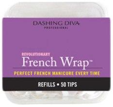 "Духи, Парфюмерия, косметика Типсы узкие ""Френч Смайл"" - Dashing Diva French Wrap White 50 Tips (Size-11)"