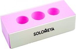 Духи, Парфюмерия, косметика Блок-полировщик для ногтей 2-х сторонний с отверстием под пальцы - Solomeya 2 Way Block Buffer