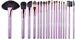 Духи, Парфюмерия, косметика Набор кистей для макияжа в косметичке, 18 шт, черный - Megaga Professional