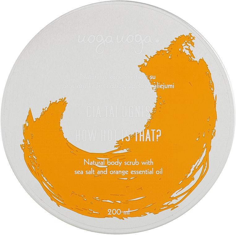 Скраб для тела с морской солью и эфирным маслом апельсина - Uoga Uoga Natural Body Scrub Sea Salt And Orange Essential Oil