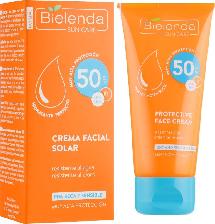 Солнцезащитный крем для лица с матирующим эффектом SPF 50 - Bielenda Bikini Perfecting Tinted Face Cream