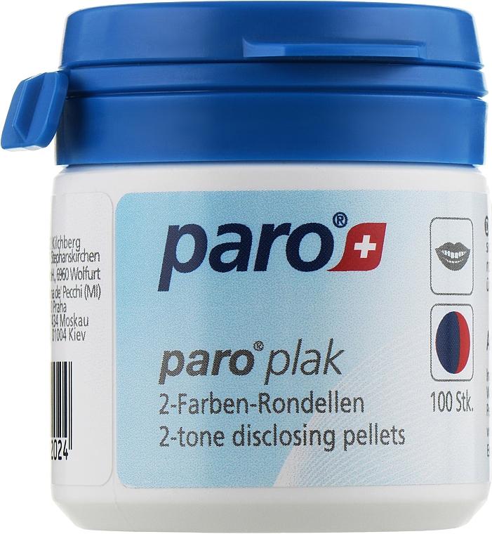 Двухцветные подушечки для индикации зубного налета (100шт) - Paro Swiss Plak2-Tone Disclosing Pellets