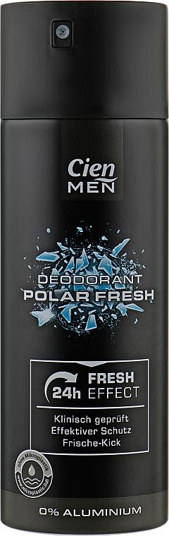 Мужской аэрозольный дезодорант-антиперспирант - Cien Polar Fresh