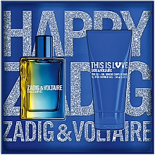 Духи, Парфюмерия, косметика Zadig & Voltaire This is Love! for Him - Набор (edt/50ml + sh/gel/50ml)