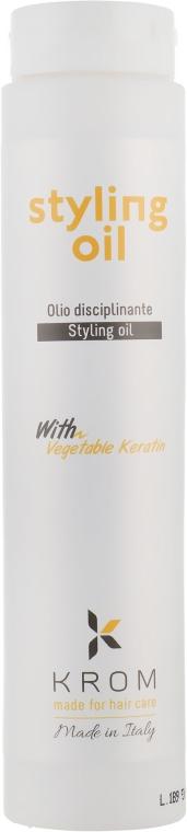 Масло для стайлинга с растительным кератином - Krom K Style
