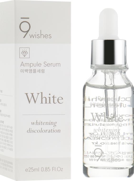 Сыворотка для осветления пигметаци - 9 Wishes Miracle White Ampule Serum