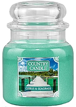Духи, Парфюмерия, косметика Ароматическая свеча в банке - Country Candle Citrus & Seagrass
