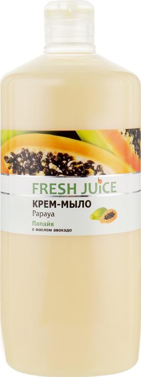 """Крем-мыло с увлажняющим молочком """"Папайя"""" - Fresh Juice Papaya"""