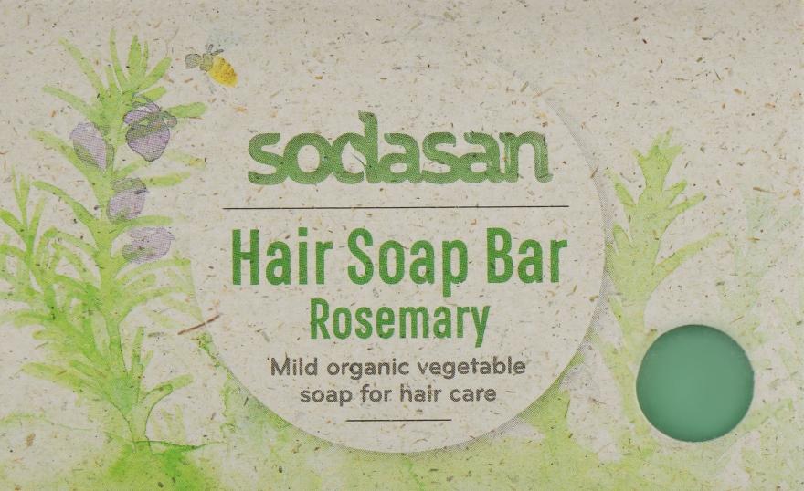 """Органическое мыло-шампунь """"Розмарин"""" для роста и укрепления волос - Sodasan"""