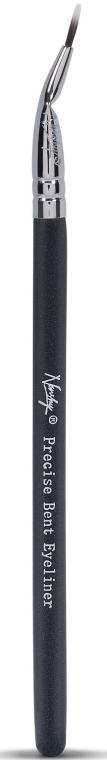 Кисть для подводки EB-01-OB - Nanshy Precise Bent Eyeliner Brush Onyx Black