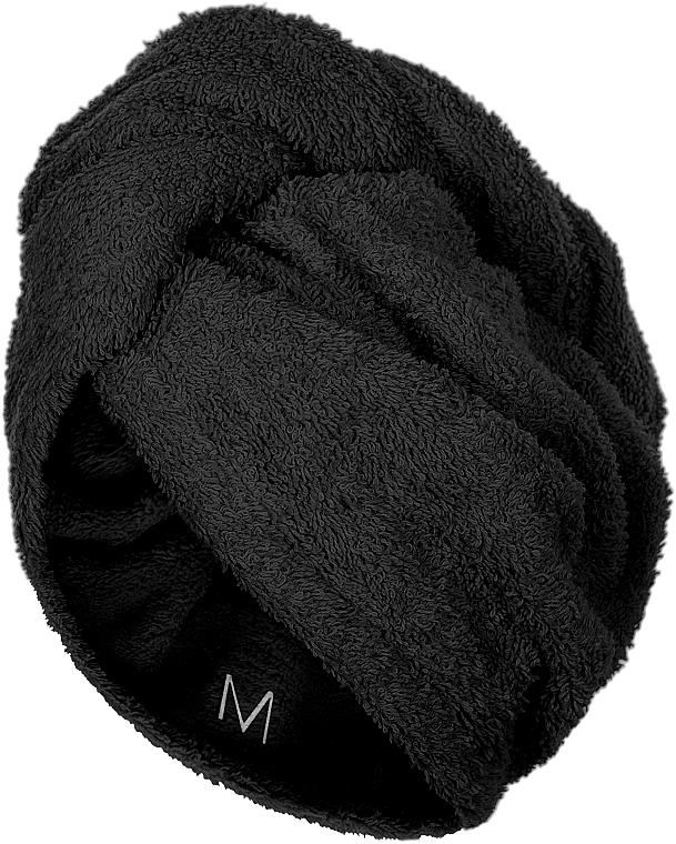 Полотенце-тюрбан для сушки волос, черное - Makeup