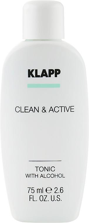 Тоник для лица - Klapp Clean & Active Tonic with Alcohol