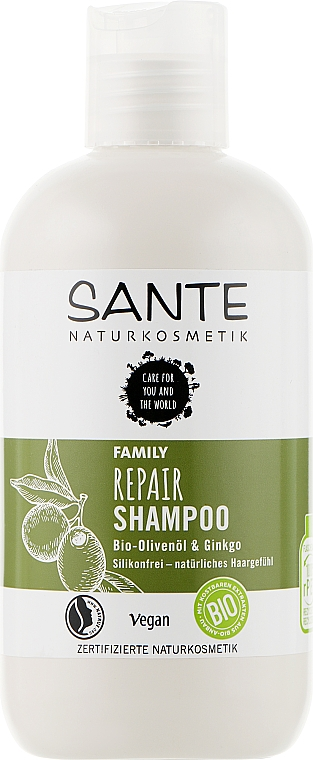 "Биошампунь для всей семьи восстанавливающий ""Гинкго билоба и олива"" - Sante Family Repair Shampoo"