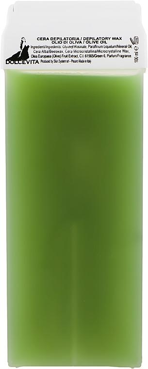 "Воск в картридже ""Оливковое масло"" - Dolce Vita Depilatory Wax Olive Oil"