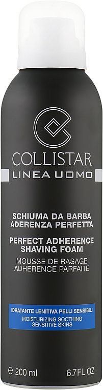 Увлажняющая пена для бритья - Collistar Perfect Adherence Shaving Foam (Sensitive Skins)