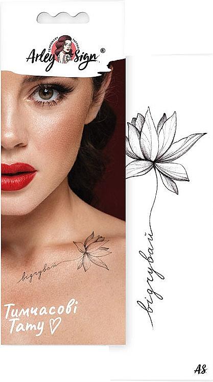 """Временное тату """"Цветы говорят: чувствуй"""" - Arley Sign"""