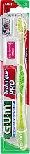 "Духи, Парфюмерия, косметика Зубная щетка ""Technique Pro"", мягкая, салатовая - G.U.M Soft Compact Toothbrush"