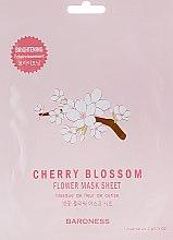 Духи, Парфюмерия, косметика Тканевая маска - Beauadd Baroness Flower Mask Sheet Cherry Blossom Flower