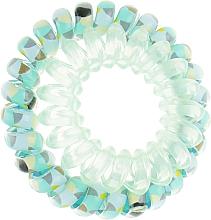 Духи, Парфюмерия, косметика Резинки для волос, 414562, мятно-голубая + прозрачно-мятная - Glamour