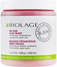 Духи, Парфюмерия, косметика Маска для волос - Biolage RAW Re-Hab Clay Mask